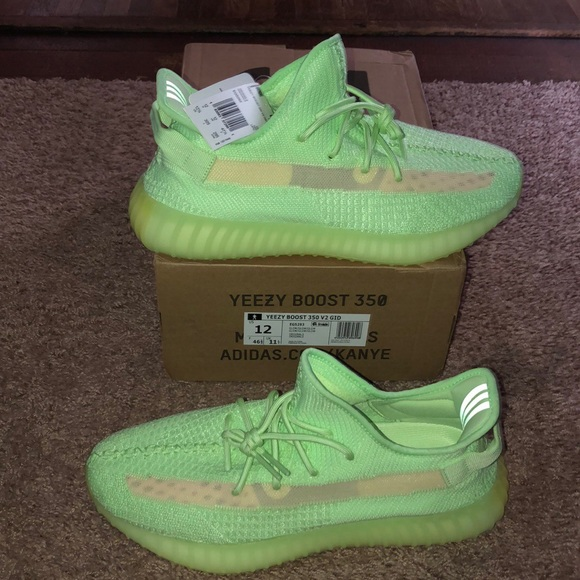 Light Up Yeezy 350 Boost V2 Glow In The Dark Brown Clam's